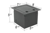 Elite Core FB6-SP Recessed Floor Box with 6 XLRF + 2 Speakon