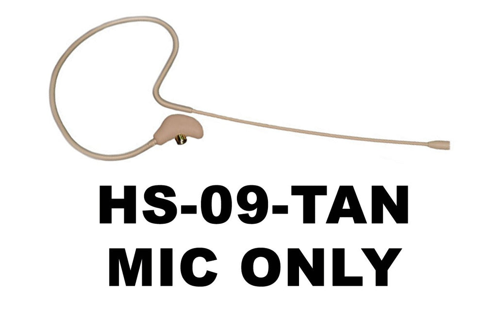 HS-09 EarSet Headworn Microphone TAN - MIC ONLY