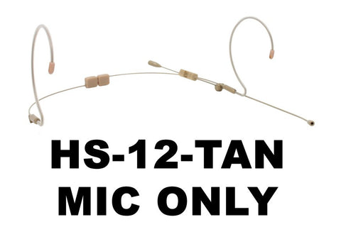 HS-12 Dual Ear EarSet Headworn Microphone TAN - MIC ONLY