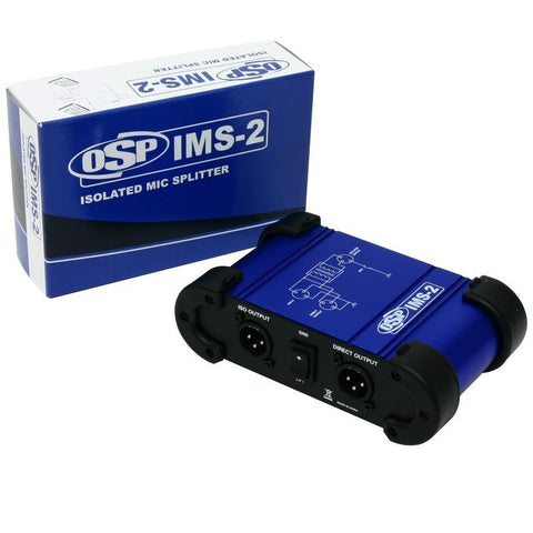 Elite Core IMS-2 Premium Isolated Microphone Splitter 1 In - 2 Out -