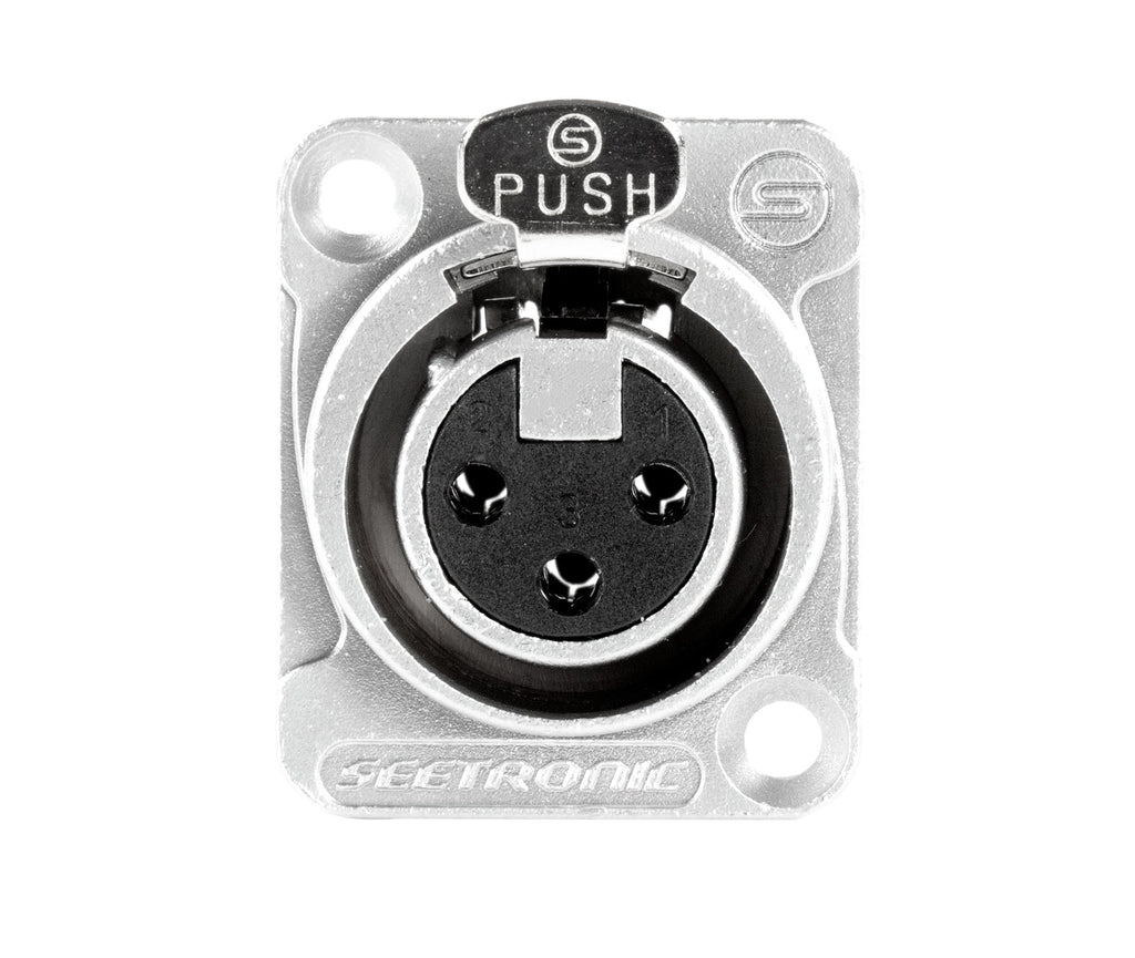 D-Series Hole Punch Out elite core 1 BLANK Snake Cable Reel Black Metal with