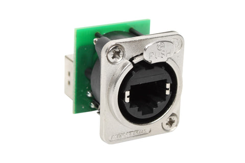 Neutrik NE8FDP Ethercon Pass-Through Panel Mount