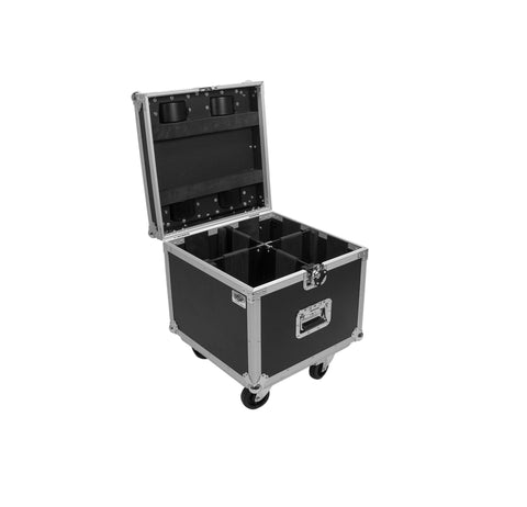 OSP PAR-CASE-4C Universal ATA Flight Case for 4 LED PAR CANS w/ Casters & Caster Cups