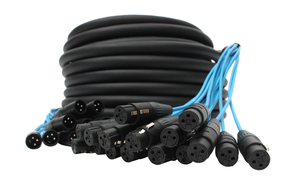 Elite Core PEX16100 16 Channel 100' Fan To Fan XLR Extension Snake