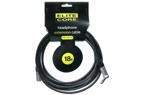 "Elite Core EC-PRO-HEX18 18' Headphone Extension Cable ( 1/4"" TRS - XLRM )"