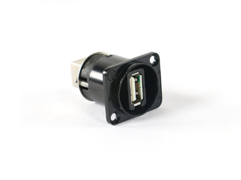 Seetronic SAUSB-W-B USB A-B Pass Through Panel Mount D-Series Jack