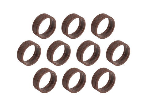 SuperFlex GOLD SFC-BAND-BROWN-10PK Colored ID Rings