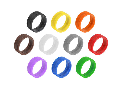 SuperFlex GOLD SFC-BAND-MULTI-10PK Colored ID Rings - 1 EACH OF TEN COLORS