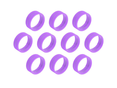 SuperFlex GOLD SFC-BAND-PURPLE-10PK Colored ID Rings