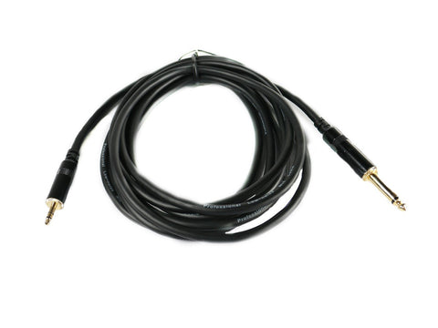 "SuperFlex GOLD SFP-110Q3.5mm Patch Cable 3.5mm Male to 1/4"" TS Male 10'"