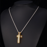 Gold Plated Cross Pendant Necklace