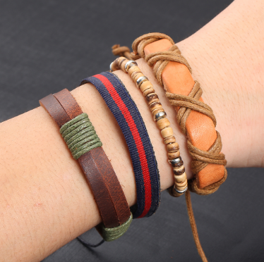 Set of  Vintage Leather Bracelets