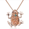 Lucky Frog Crystal Necklace