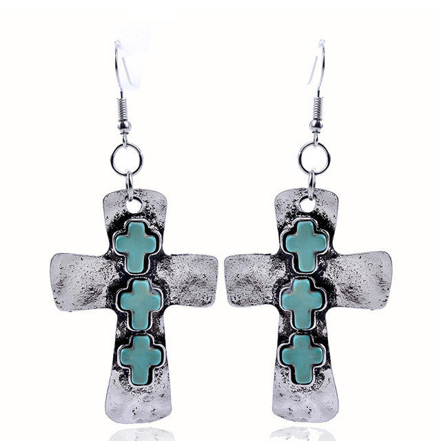 Bohemian  Cross Style Earrings