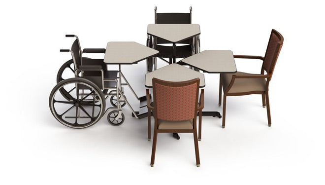 Wheelchair Accessible 4 Seater Table