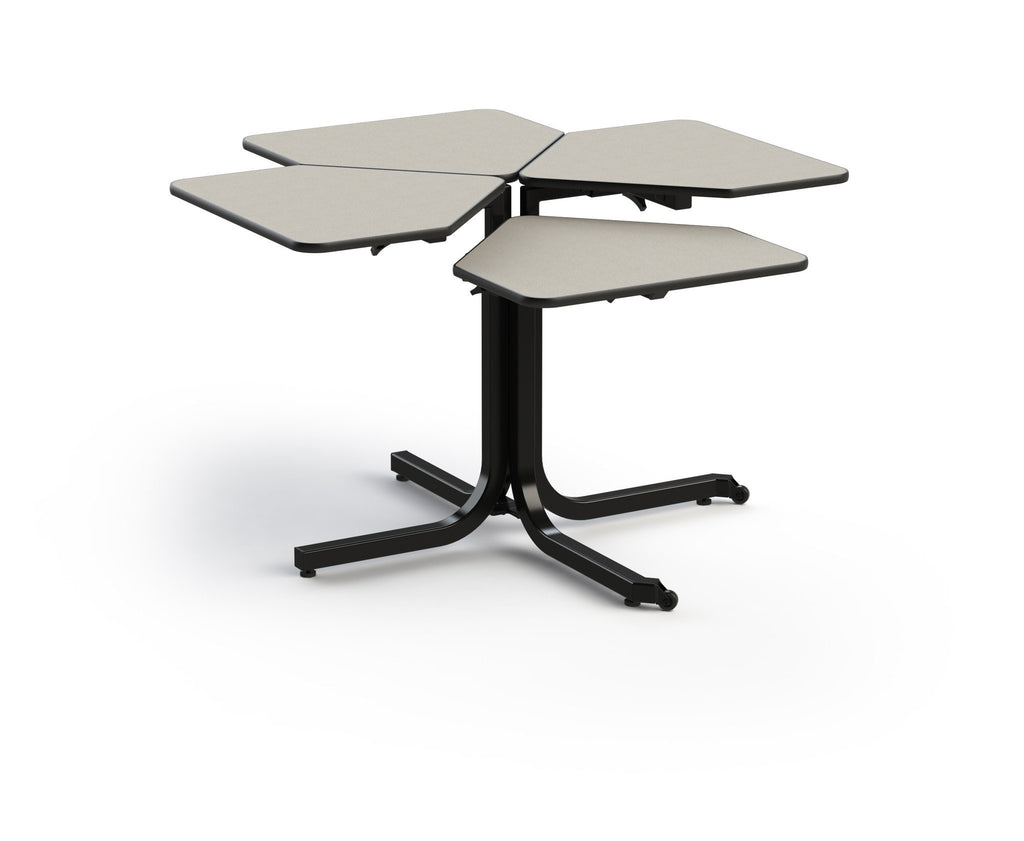 Butterfly 4 Seat Single Pedestal Adjustable Table