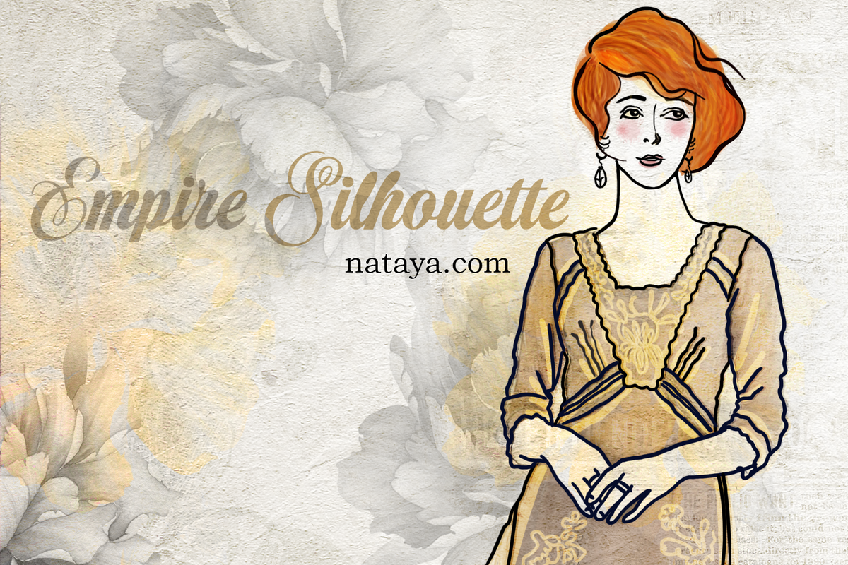 Get that Edwardian look with an Empire Silhouette dress