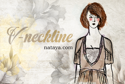 What is a V-Neckline and how does it look over a Scoop Neckline?