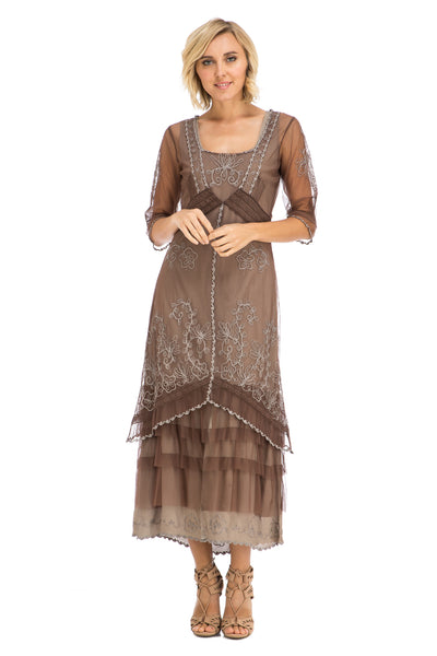 Nataya Victorian Lux Lace 2101 Chocolate Dress
