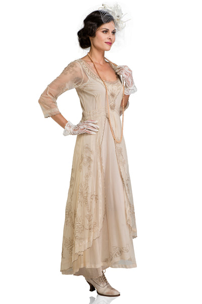 Nataya 40163 Downton Abbey Tea Party Gown in Pearl