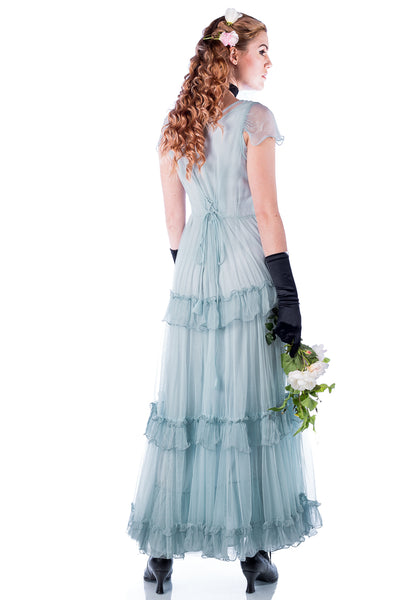 Nataya 40187 Vintage Bridal Dress in Sky Blue