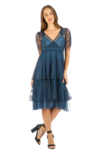 Nataya Zoe AL-237 Indigo Dress