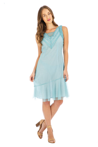 Nataya Stella AL-632 Turquoise Dress