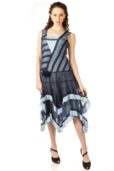 Nataya 40819 Flapper Style Dress in Navy