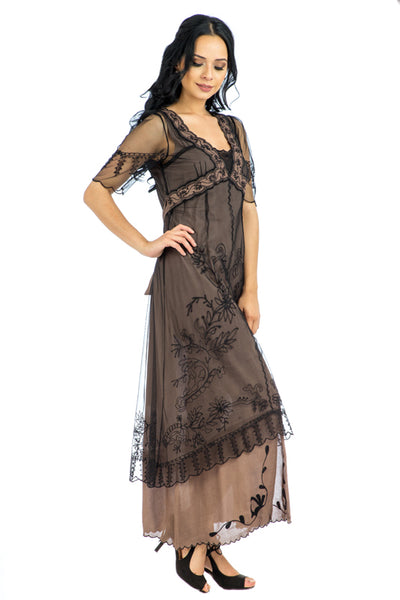 Nataya Victorian 40007 Black/Coco Dress