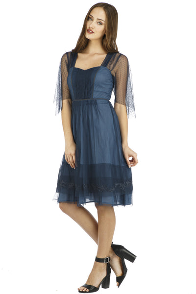 Nataya Chloe Indigo AL-245 Dress