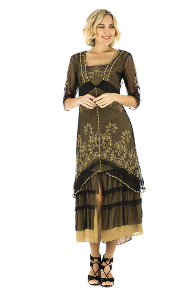 Nataya Victorian Lux Lace 2101 Black/Gold Dress - SOLD OUT