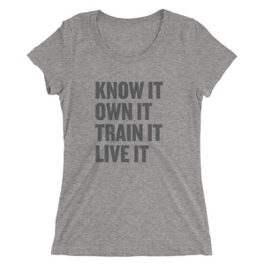 Ladies' Know It t-shirt - Black Logo