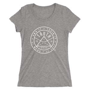 Ladies' Badge t-shirt - White Logo