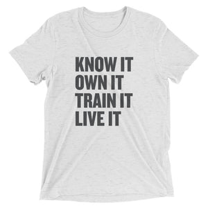 Men's Know It t-shirt - Black Logo