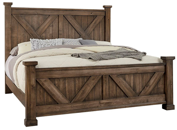 Cool Rustic Bed - King,Artisan and Post,Beds and Headboards,schleider-furniture-company