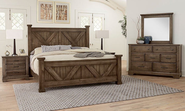Artisan & Post Cool Rustic Bedroom - Mink,Vaughan-Bassett,Bedroom Sets,schleider-furniture-company