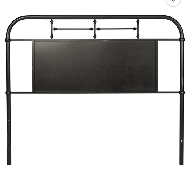 Vintage Metal Headboard - Black,Liberty Furniture,Beds and Headboards,schleider-furniture-company