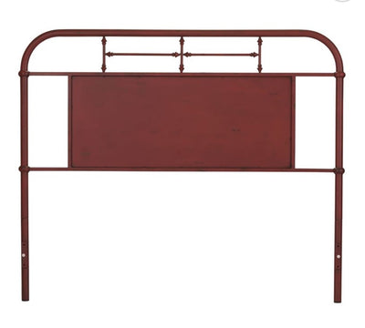 Vintage Metal Headboard - Red