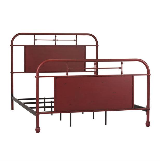 Vintage Metal Headboard - Red,Liberty Furniture,Beds and Headboards,schleider-furniture-company