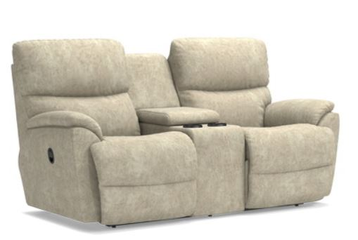 La-Z-Boy Trouper Full Reclining Love Seat with Console,La-Z-Boy,Reclining Sofa and Loveseat,schleider-furniture-company