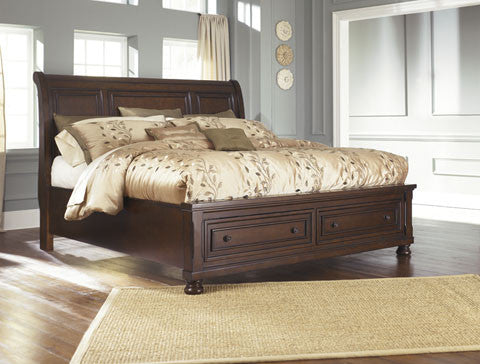 Ashley Porter Sleigh Bed with Storage Footboard