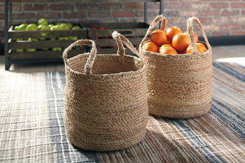 Ashley Furniture,Brayton Jute Basket Set,Accessories,schleider-furniture-company