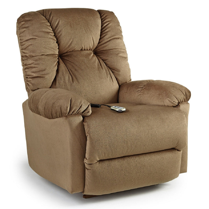 Best Home Furnishings Romulus Recliner in color tan