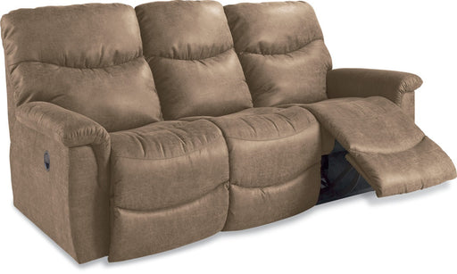 La-Z-Boy James Reclining Sofa showing open chaise legrest