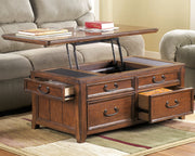 Woodsboro Cocktail Table,Ashley Furniture,Coffee Table/Cocktail Table,schleider-furniture-company