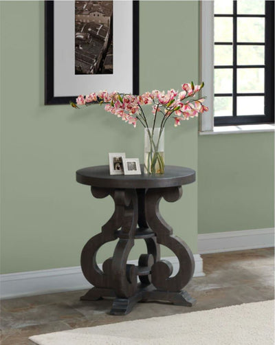 Stone Round End Table