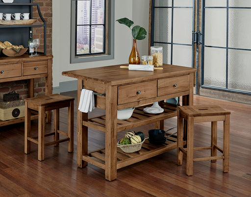 Simply Dining Solid Maple Kitchen Island