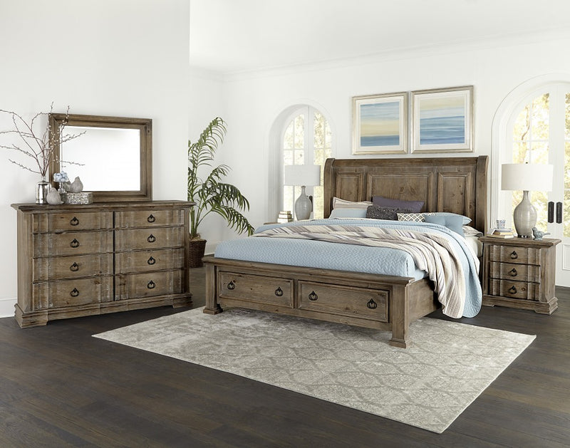 Rustic Hills model 682 solid wood bedroom at Schleider Furniture Company