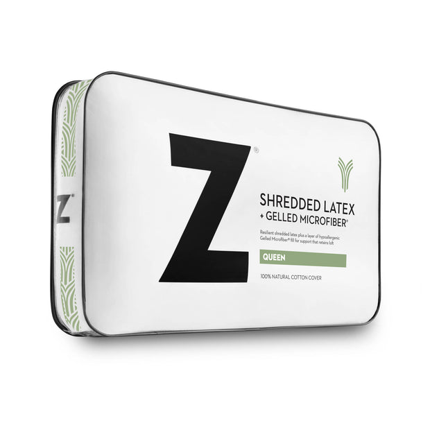 Z Shredded Latex+ Gelled Microfiber Pillow,Malouf,Pillow,schleider-furniture-company