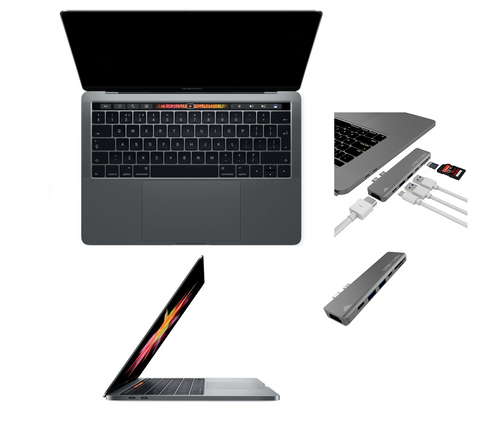 13 MacBook Pro with Retina display Touch Bar  3.3GHz Intel Core i7  16 GB Ram 500 Flash Storage- Space Gray - MacPro-LA